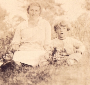 My father and his mother, the year she died